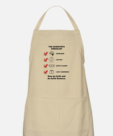 The Scientists Checklist Apron