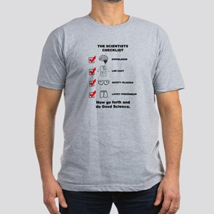 The Scientists Checklist Men's Fitted T-Shirt (dar