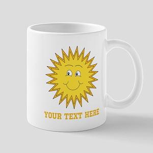 Sun with Custom Text. Mug