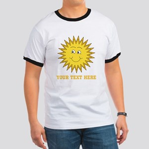Sun with Custom Text. Ringer T