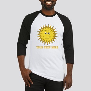 Sun with Custom Text. Baseball Jersey