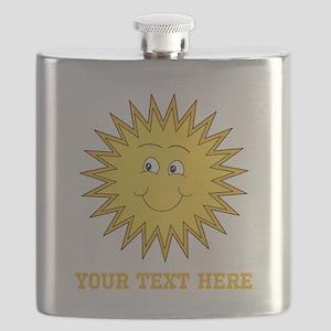 Sun with Custom Text. Flask