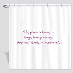 Family Happiness Shower Curtain