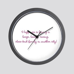 Family Happiness Wall Clock