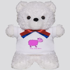 Pink Sheep with Custom Text. Teddy Bear