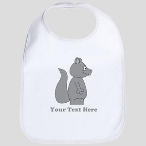 Squirrel with Gray Custom Text. Bib