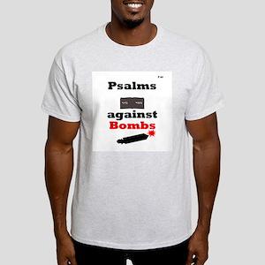 Psalms against Bombs Ash Grey T-Shirt