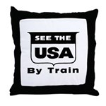 See The USA By Train ! Throw Pillow
