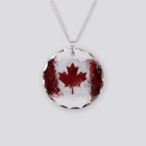 Canada Graffiti Necklace Circle Charm