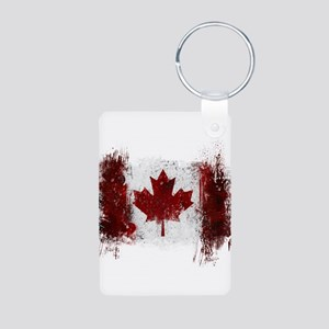 Canada Graffiti Aluminum Photo Keychain