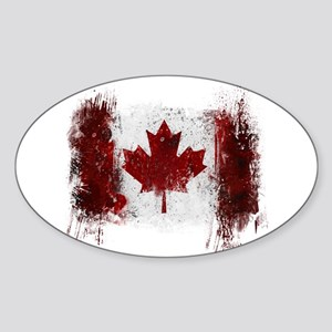Canada Graffiti Sticker (Oval)