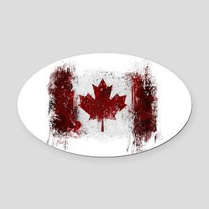Canada Graffiti Oval Car Magnet