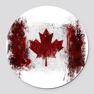 Canada Graffiti Round Car Magnet