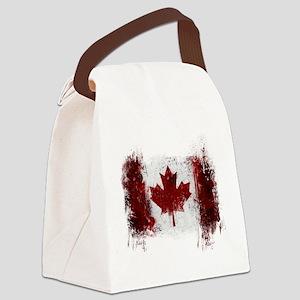 Canada Graffiti Canvas Lunch Bag