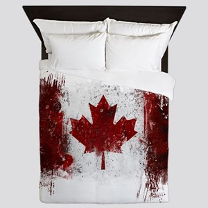 Canada Graffiti Queen Duvet
