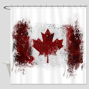 Canada Graffiti Shower Curtain