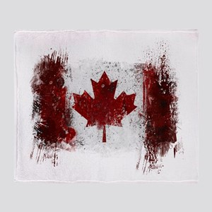 Canada Graffiti Throw Blanket