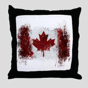 Canada Graffiti Throw Pillow