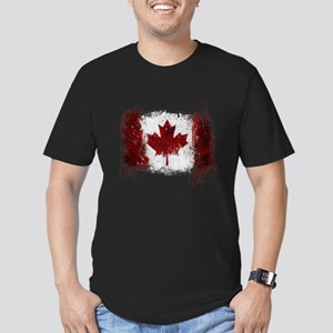 Canada Graffiti Men's Fitted T-Shirt (dark)