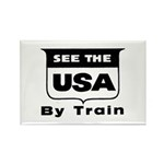See The USA By Train ! Rectangle Magnet (10 pack)