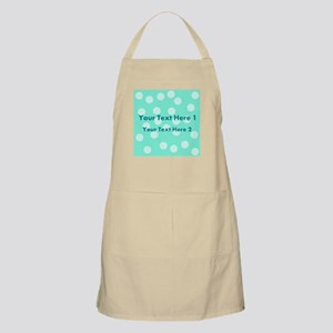 Teal Dots with Text Apron
