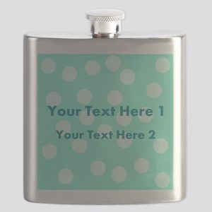 Teal Dots with Text Flask