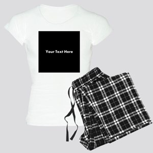 Black Background with Text. Women's Light Pajamas