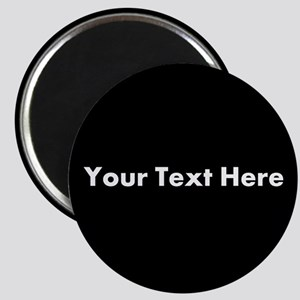 Black Background with Text. Magnet