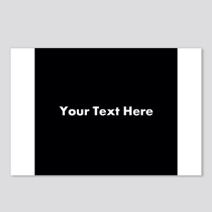 Black Background with Text. Postcards (Package of