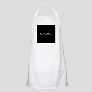 Black Background with Text. Apron