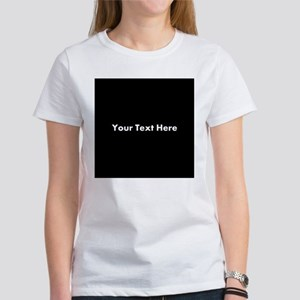 Black Background with Text. Women's T-Shirt