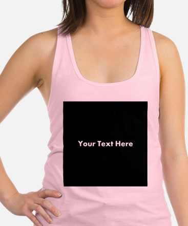 Black Background with Text. Racerback Tank Top