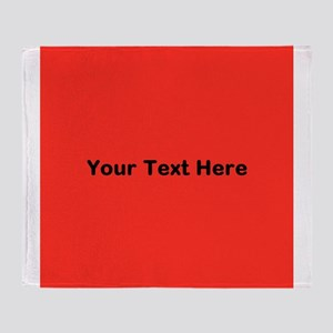 Red Background with Text. Throw Blanket