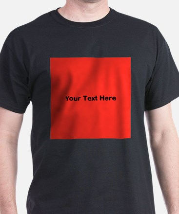 Red Background with Text. T-Shirt