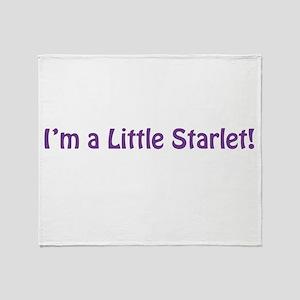 Im A Little Starlet Throw Blanket