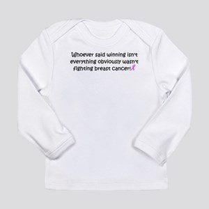breast cancer awareness Long Sleeve Infant T-S