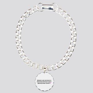 breast cancer awareness Charm Bracelet, One Ch