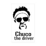 chuco face sticker Sticker (Rectangle 10 pk)