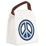 Blue Peace Symbol Canvas Lunch Bag