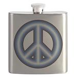 Blue Peace Symbol Flask