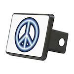 Blue Peace Symbol Rectangular Hitch Cover