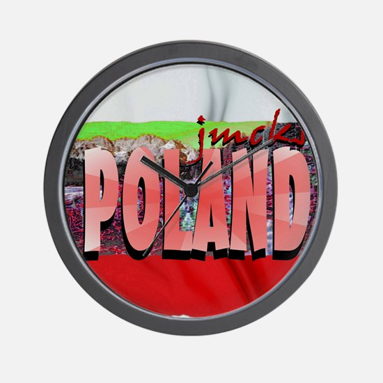 poland art illustration Wall Clock