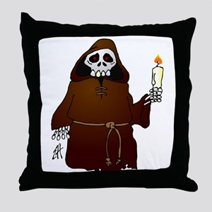 Skeleton monk habit wish you a scary Halloween Thr