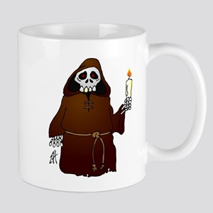 Skeleton monk habit wish you a scary Halloween Mug