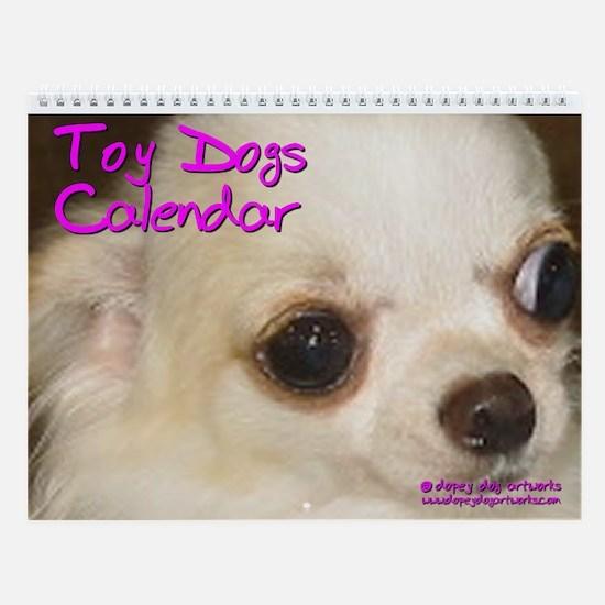 TOY DOGS Wall Calendar