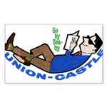 unioncastle Sticker (Rectangle 10 pk)