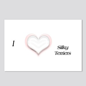 I heart Silky Terriers Postcards (Package of 8)