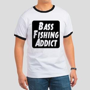 Bass Fishing Addict Ringer T