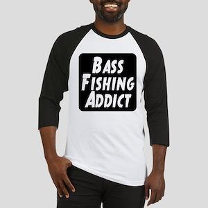 Bass Fishing Addict Baseball Jersey