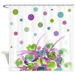 Atom Flowers #28 Shower Curtain